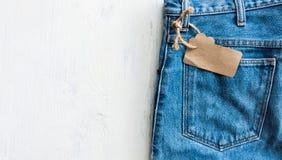 Drelichowy cajgu trouser Zdjęcie Royalty Free