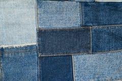 Drelichowy patchwork tkaniny wzór Obrazy Stock