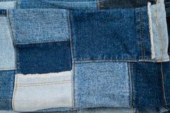 Drelichowy patchwork tkaniny wzór Zdjęcia Royalty Free