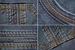 Drelichowy tkaniny tekstury set Zdjęcie Royalty Free