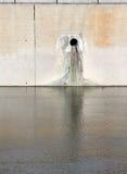 Dren del agua contaminada Imagen de archivo libre de regalías