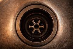 Dren oxidado en el fregadero Fotos de archivo libres de regalías