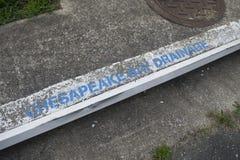 A drenagem da baía de Chesapeake Imagens de Stock
