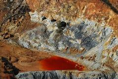 Drenagem de mina ácida Fotos de Stock Royalty Free
