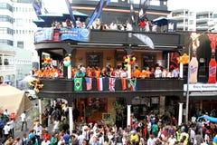 Drenaje 2010 del final de la Copa del mundo de la FIFA en cabo largo de la calle Imágenes de archivo libres de regalías