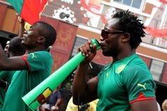 Drenaje 2010 del final de la Copa del mundo de la FIFA en cabo largo de la calle Imagen de archivo