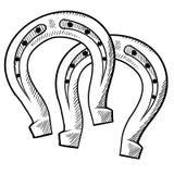 Drenaje afortunado de las herraduras ilustración del vector