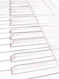 Drenaje artístico de un teclado de piano Foto de archivo