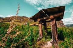 Drenaje-bien en montañas Imágenes de archivo libres de regalías