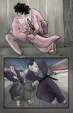Drenaje cómico del arte de la página Foto de archivo