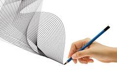 Drenaje con el lápiz a disposición Fotos de archivo libres de regalías