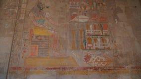 Drenaje de dios de Anubis en una tumba en el valle de los reyes Egipto almacen de video