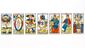 Drenaje de la carta de tarot foto de archivo libre de regalías