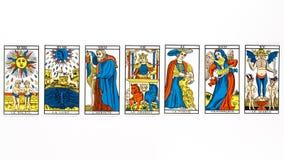 Drenaje de la carta de tarot Fotos de archivo libres de regalías