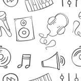 Drenaje de la mano de los garabatos de la música