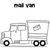 Drenaje de la mano de mail van transportation Fotografía de archivo libre de regalías