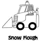 Drenaje de la mano del arado de la nieve libre illustration