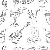 Drenaje de la mano del instrumento musical del garabato ilustración del vector