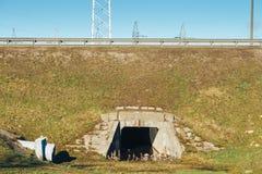 Drenaje de las aguas residuales Fotografía de archivo libre de regalías
