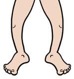 Drenaje de las piernas Foto de archivo libre de regalías