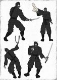 Drenaje de Ninja Fotografía de archivo