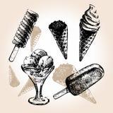 Drenaje del helado Foto de archivo libre de regalías