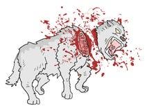 Drenaje del lobo del asesinato de Gore stock de ilustración