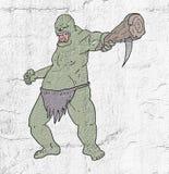 Drenaje del ogro stock de ilustración