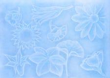 Drenaje en colores pastel que representa las flores Imágenes de archivo libres de regalías