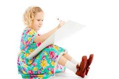 Drenaje en whiteboard Fotos de archivo libres de regalías