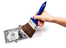 Drenamos el dólar imagen de archivo libre de regalías