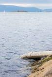 Drenarski ściek w ocean Fotografia Royalty Free