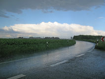Drenching rain Stock Photo