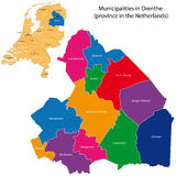 drenthe ολλανδική επαρχία διανυσματική απεικόνιση