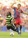 Drenthe fight with Mascherano Stock Image