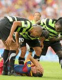 Drenthe Kampf mit Mascherano Lizenzfreie Stockfotos