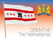 Drenthe regional flag, Netherlands, European union Stock Photography