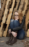 Drepressed tonårs- flicka arkivfoton