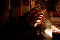 Drepung klostermunkar Lhasa Tibet Arkivbild