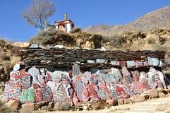Marnyi kamienie przy Drepung monasterem fotografia stock