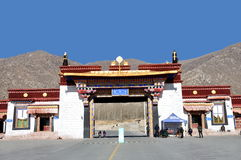 Entrance to Drepung Monastery Royalty Free Stock Photography