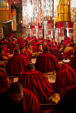 Drepung Monastery studying monks Lhasa Tibet Royalty Free Stock Photos