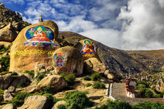 Drepung Monastery in Tibet, China stock images