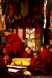 Drepung monks in a Monastery Lhasa Tibet Royalty Free Stock Photos