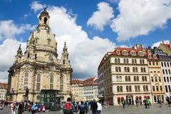 Dresda Frauenkirche 01 Immagini Stock Libere da Diritti