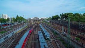 Dresda, Germania circa luglio 2018: Stazione ferroviaria, al rallentatore video d archivio
