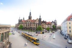 Dresda, Germania - 12 maggio 2016: Vista del centro di vecchia città Fotografie Stock