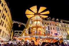 Dresda, Germania - mercato di Natale Fotografia Stock