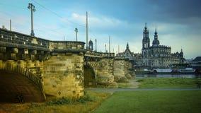 DRESDA, GERMANIA: Panorama del centro di Dresda Città Vecchia Fotografie Stock Libere da Diritti
