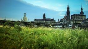 DRESDA, GERMANIA: Panorama del centro di Dresda Città Vecchia Fotografie Stock